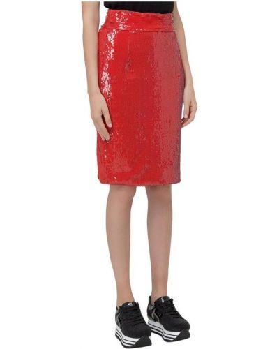 Czerwona spódnica z cekinami Dondup