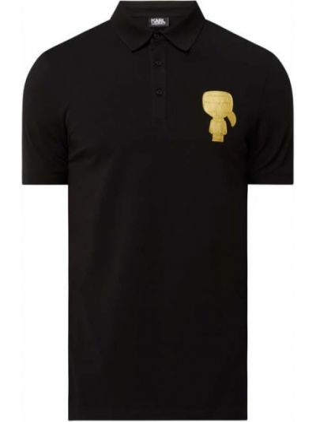 T-shirt bawełniana - czarna Karl Lagerfeld