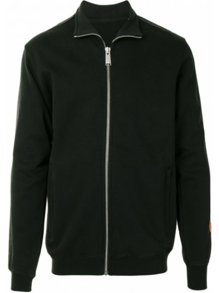 Ватная с рукавами черная длинная куртка Heron Preston