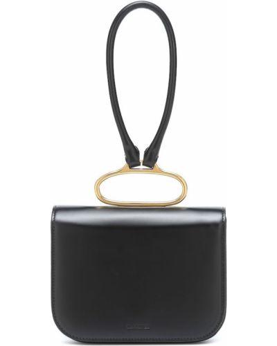 Черный клатч из натуральной кожи Jil Sander