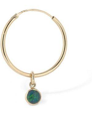 Zielone złote srebrne kolczyki Trine Tuxen