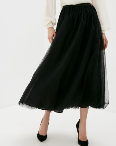 Черная юбка свободного кроя Twinset Milano