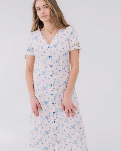 Прямое розовое платье Bessa