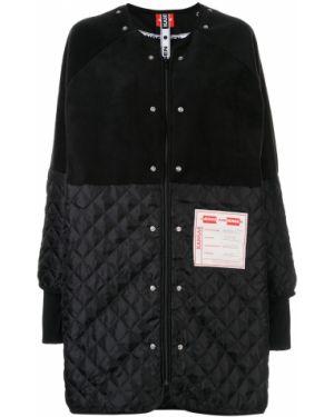 Черное пальто с воротником с капюшоном Lærke Andersen