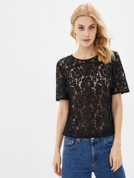 Клубная черная блузка с поясом Concept Club