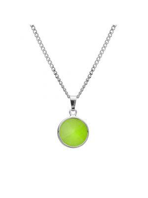Zielony naszyjnik srebrny Giorre