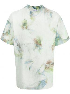 T-shirt bawełniana - zielona John Elliott