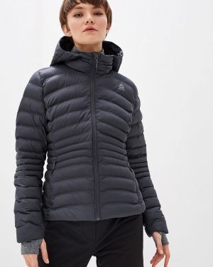 Утепленная куртка черная осенняя Reebok