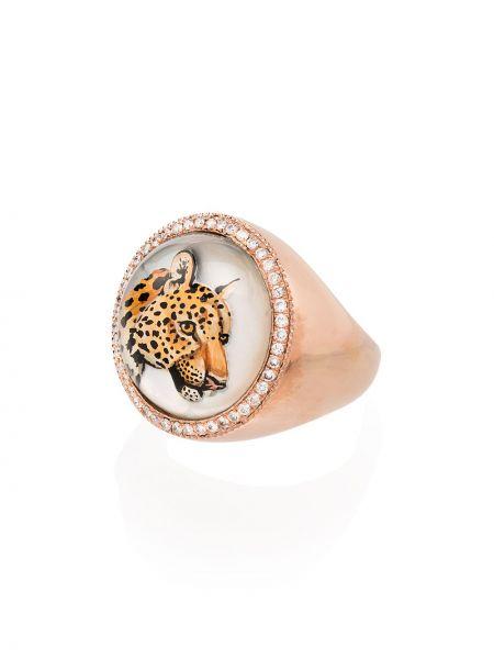 Розовое кольцо с жемчугом Jacquie Aiche