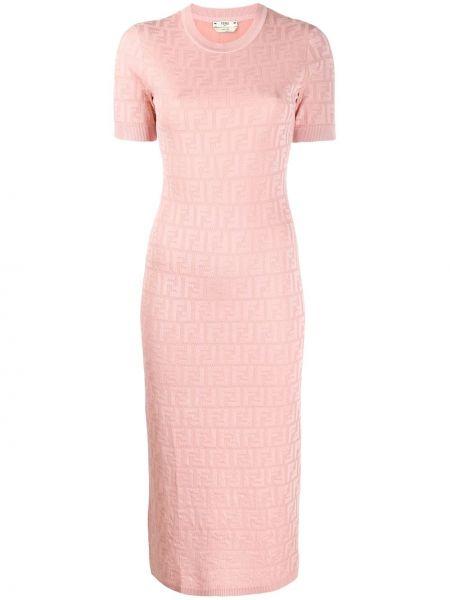 Платье мини с рукавами с вырезом Fendi