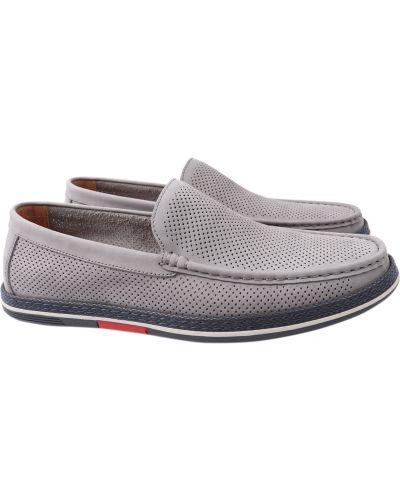Кожаные туфли - серые Arees Meniwa