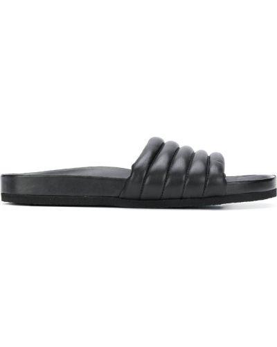 Otwarty z paskiem czarny skórzany sandały Isabel Marant