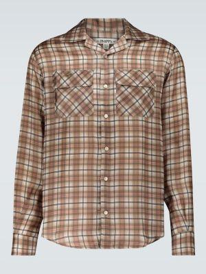 Коричневая рубашка с воротником Phipps