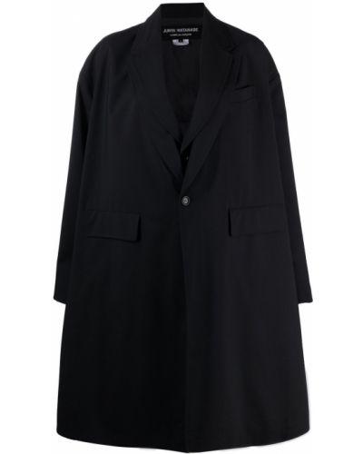 Шерстяное черное длинное пальто оверсайз Junya Watanabe