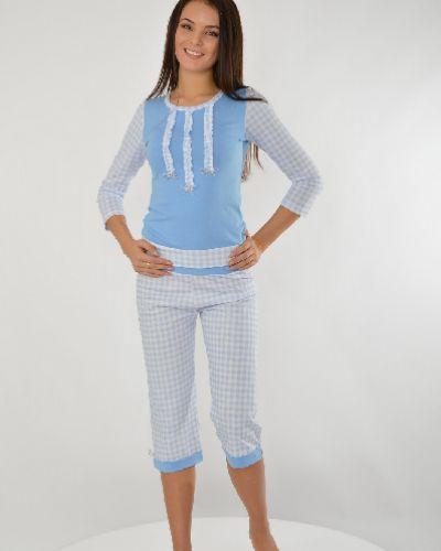 Хлопковая пижама - голубая Milana Style