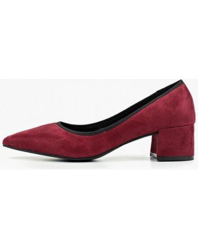 Туфли на каблуке бордовый Vera Blum