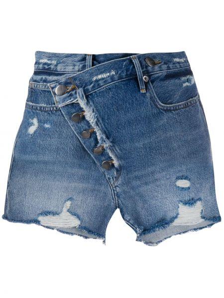 Джинсовые шорты с карманами синий Frame