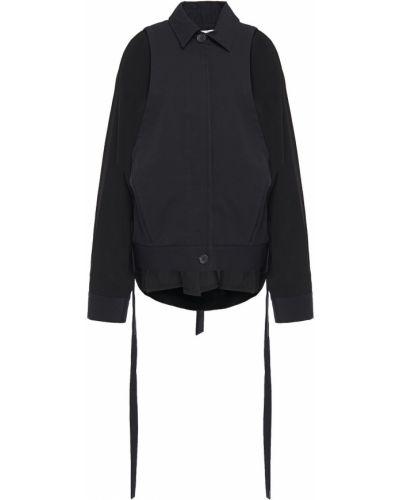 Нейлоновая черная куртка с карманами Chalayan