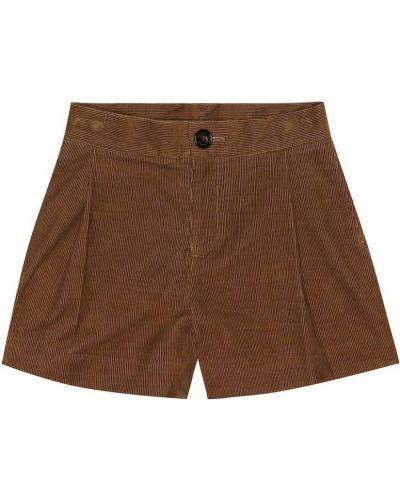 Короткие шорты вельветовые классические Burberry Kids