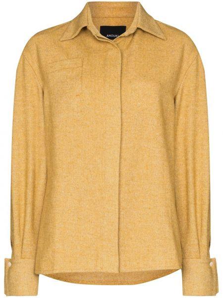 Акриловая рубашка с воротником на пуговицах с карманами Anouki