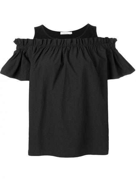 Блузка с открытыми плечами с рюшами Neul