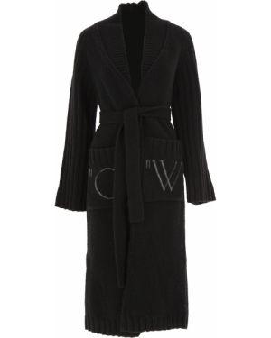 Czarny sweter bawełniany z długimi rękawami Off-white C/o Virgil Abloh