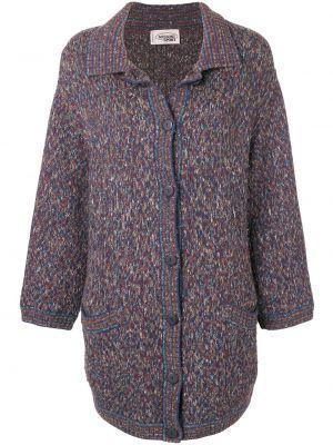 Шерстяное пальто на пуговицах с капюшоном Missoni Pre-owned