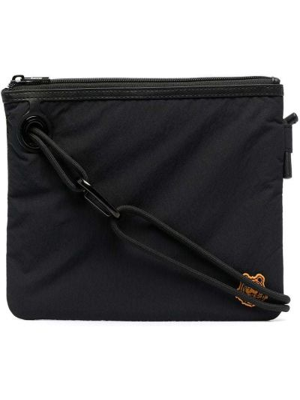 Черная сумка на плечо на молнии с нашивками Kenzo