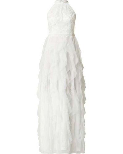 Sukienka wieczorowa rozkloszowana z falbanami tiulowa V.m.