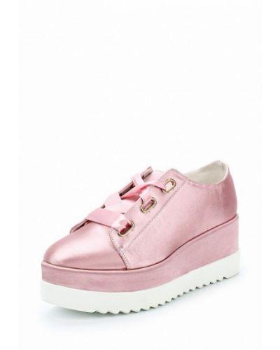 Розовые кеды на каблуке Lost Ink.