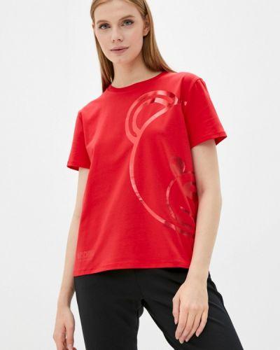 Футболка с короткими рукавами - красная Moschino Underwear