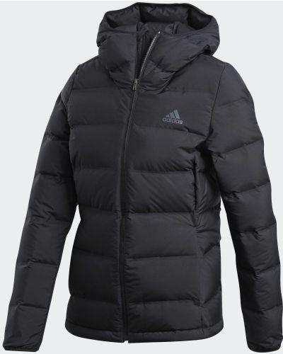 Пуховая черная куртка Adidas