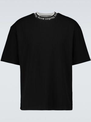 Черная рубашка из вискозы стрейч Acne Studios