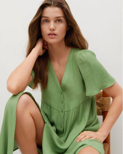 Zielona sukienka casual Mango