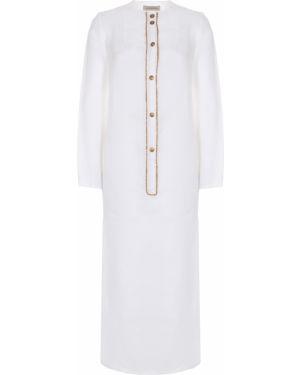 Белая туника с длинными рукавами с разрезами по бокам на пуговицах мембранная Gentryportofino