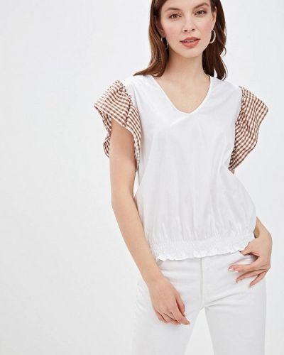 Блузка с рюшами белая Massimiliano Bini