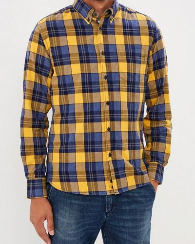 Желтая рубашка с длинным рукавом United Colors Of Benetton