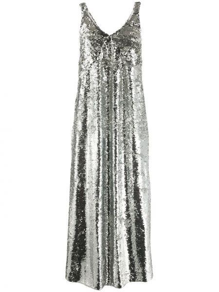 Платье с пайетками - серебряное Mulberry