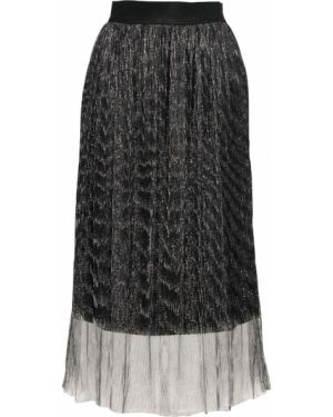 Плиссированная юбка с поясом с люрексом Bonprix