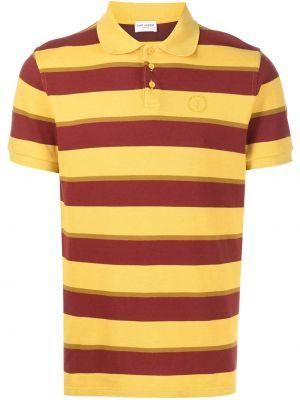 Koszula w paski w paski - żółta Saint Laurent