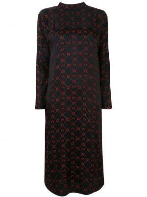 Шелковое платье макси - черное Marine Serre