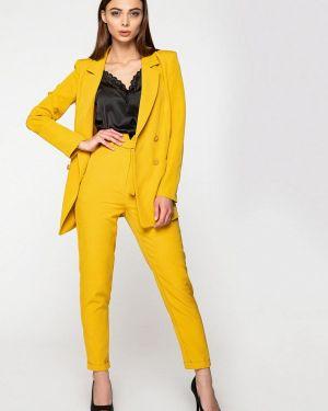 Облегающий желтый брючный костюм Itelle