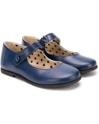 Балетки синий плоский Pèpè