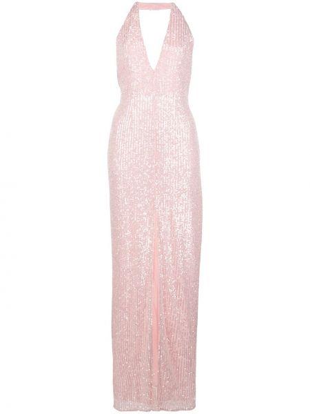Приталенное розовое платье с открытой спиной с пайетками Jay Godfrey