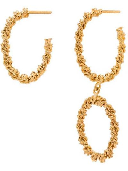 Złote kolczyki sztyfty pozłacane Joanna Laura Constantine
