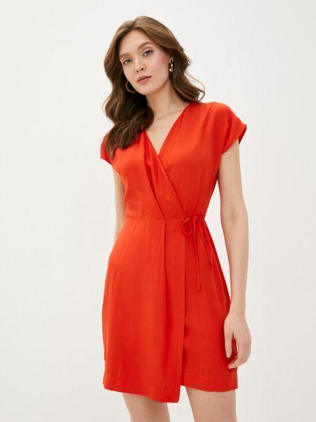 Платье с запахом красный Befree