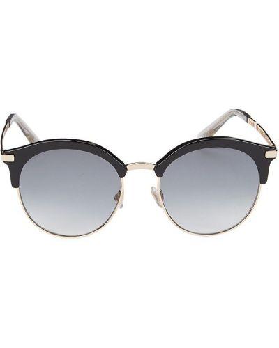 Солнцезащитные очки металлические - черные Jimmy Choo