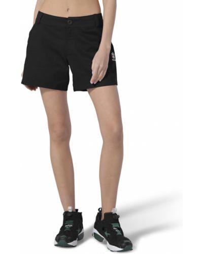 Спортивные шорты свободного кроя - черные Reebok