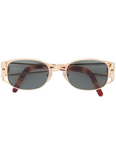 Прямые желтые солнцезащитные очки металлические Jean Paul Gaultier Pre-owned