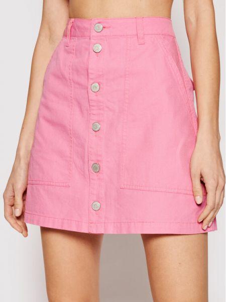 Spódnica jeansowa - różowa Tommy Jeans